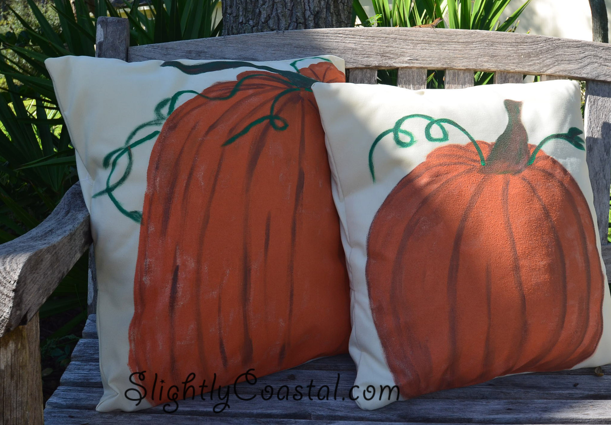 Pottery Barn Knock Off Pumpkin Pillows DIY With Tutorial