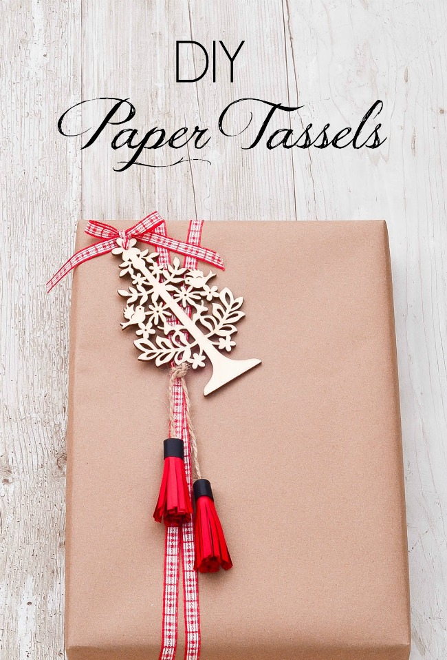 Slightly Coastal-DIY Paper Tassels