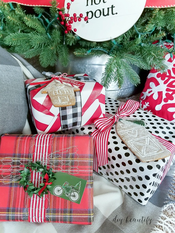 christmas wrapping  paper bow template free printable